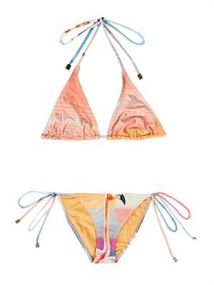 The Bahamas flamingo-print bikini