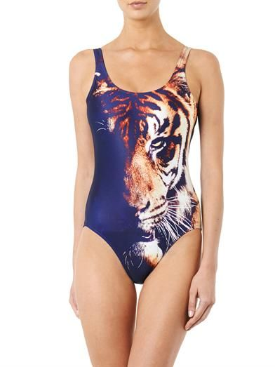 We Are Handsome The Stalker tiger-print swimsuit