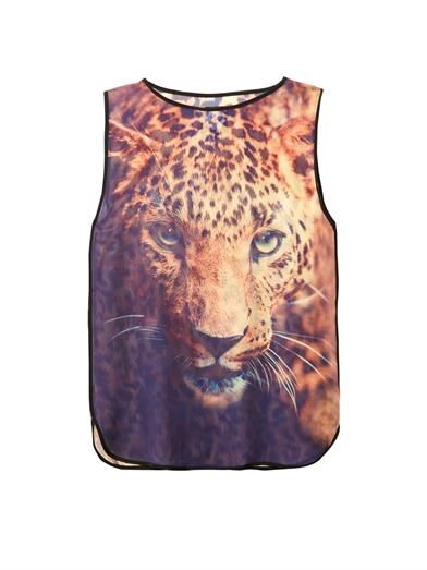 We Are Handsome The Victory print silk cover-up