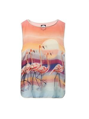 The Bahamas Flamingo-print cover-up