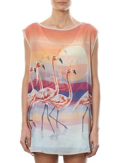 We Are Handsome The Bahamas Flamingo-print cover-up