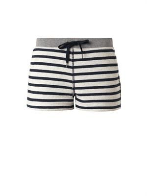 Striped French-terry shorts
