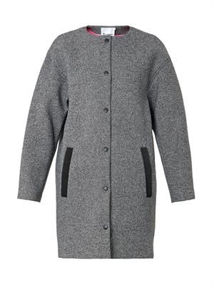 Textured bonded-neoprene coat