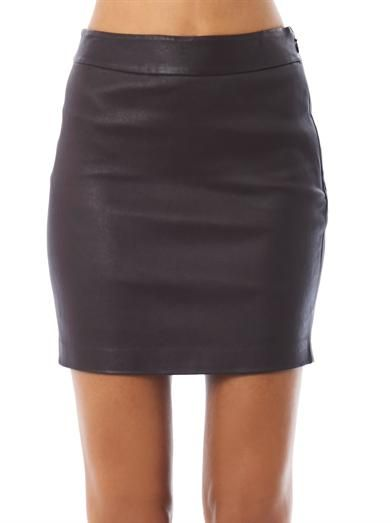 T by Alexander Wang High-waisted stretch leather skirt