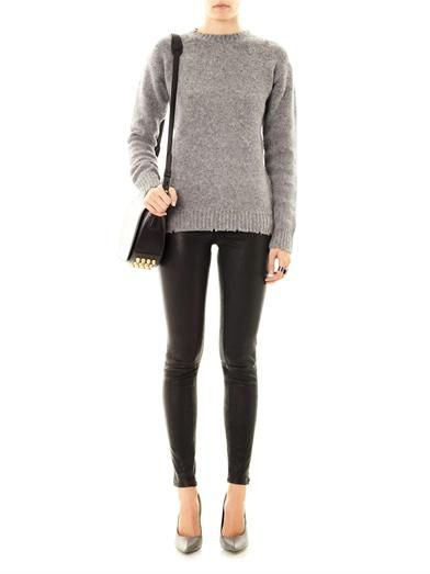 T by Alexander Wang Jersey-lined wool sweater