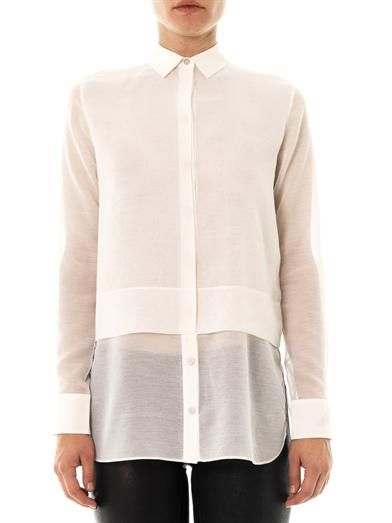 T by Alexander Wang Layered chiffon shirt