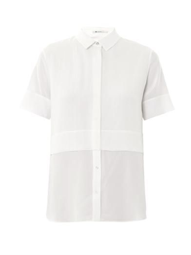 T by Alexander Wang Layered silk-chiffon blouse