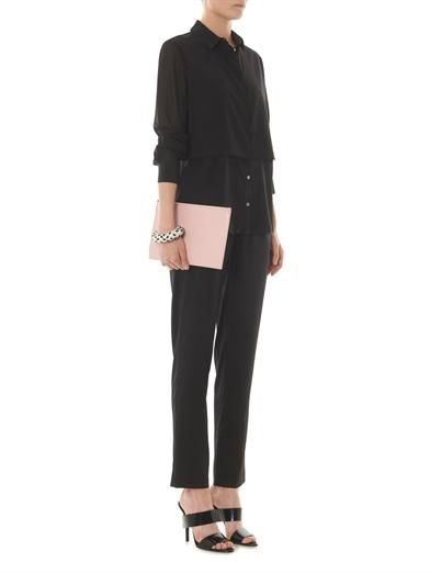 T by Alexander Wang Silk-chiffon shirt