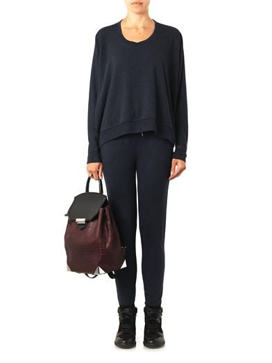 T by Alexander Wang Enzyme-washed jersey sweatshirt
