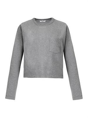 Dolman-sleeve cropped sweatshirt