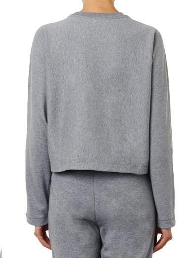 T by Alexander Wang Dolman-sleeve cropped sweatshirt
