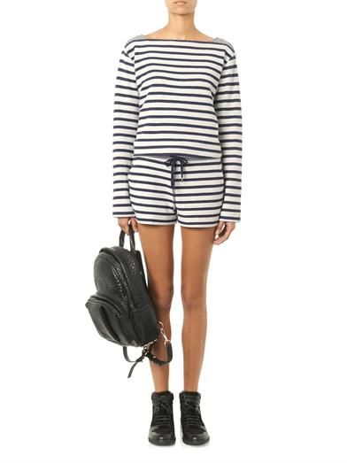T by Alexander Wang Striped French-terry sweatshirt