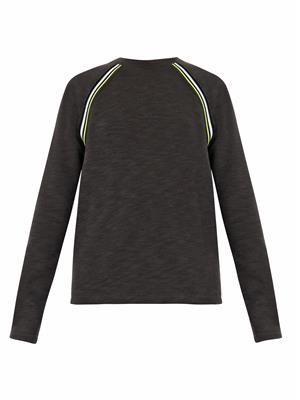 Ribbed-detail jersey sweatshirt