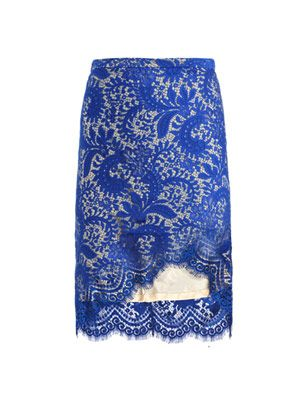 Sara lace pencil-skirt