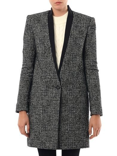 Lover Tweed check longline coat