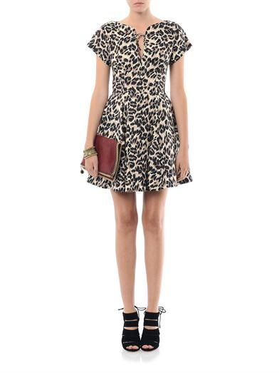 Lover Malibu leopard-print dress