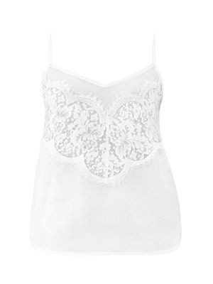 Lace cotton camisole