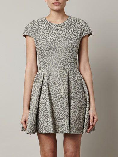 Lover Leopard-print leather dress