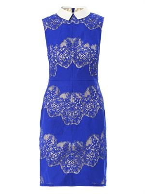 Chelsea lace-detail sleeveless dress