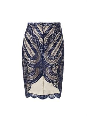 Venus French-lace pencil skirt