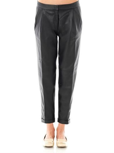 Lover Sphynx leather trousers