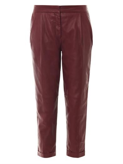 Lover Sphinx leather trousers