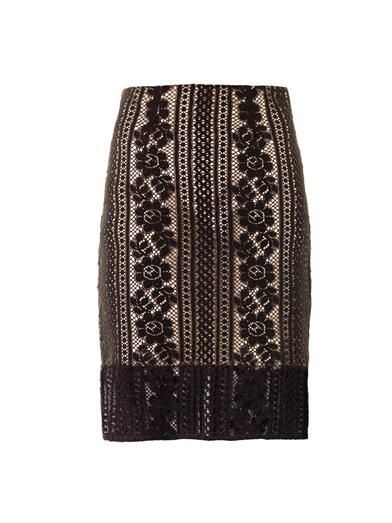 Lover Valentine lace pencil skirt