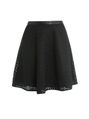 Lattice basket weave skirt