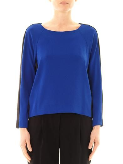 Dkny Colour-block long sleeve blouse