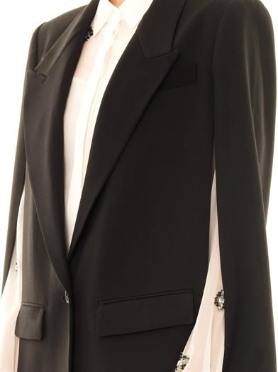 Dkny Peak-lapel single-breasted cape