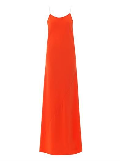 Dkny Illusion V-back crepe maxi dress