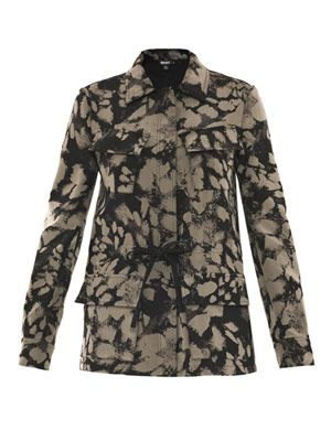 Dillon animal-print cargo jacket