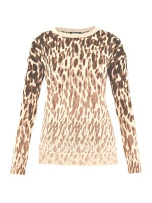 Leopard silk-cashmere sweater