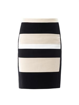 Colour-block pencil skirt