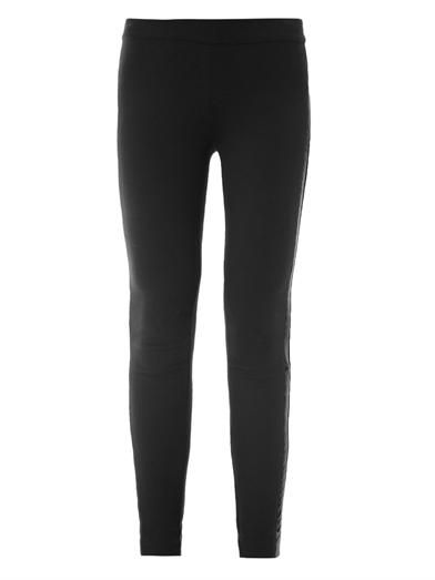 Dkny Leather trim leggings