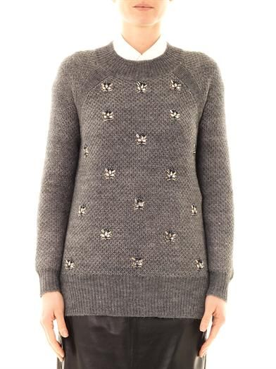 Dkny Embellished front sweater