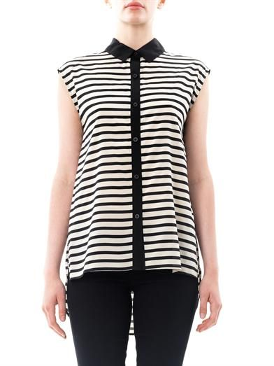 Dkny Tail hem stripe shirt