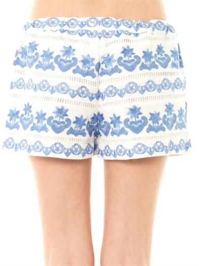 Collette by Collette Dinnigan Bora Bora embroidered shorts