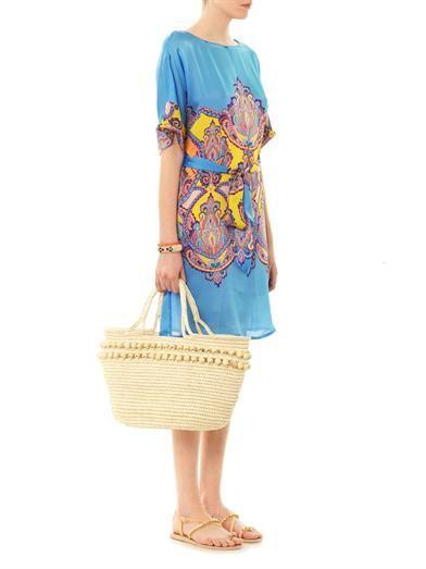 Collette by Collette Dinnigan Hippie-print silk dress