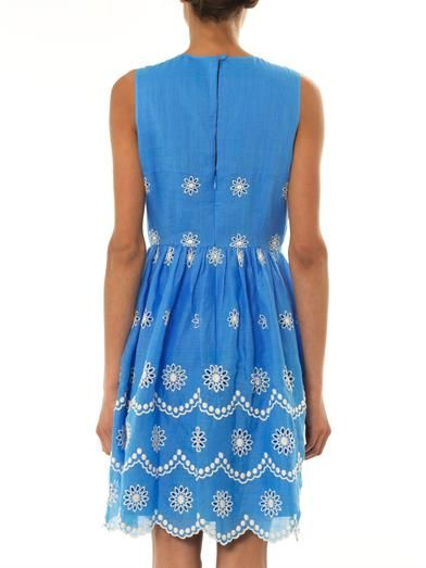 Collette by Collette Dinnigan Daisy dots-embroidered dress