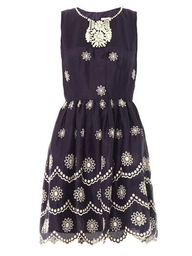 Collette by Collette Dinnigan Daisy dots embroidered dress