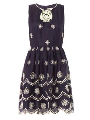 Daisy dots embroidered dress