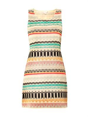 St Tropez embroidered shift dress