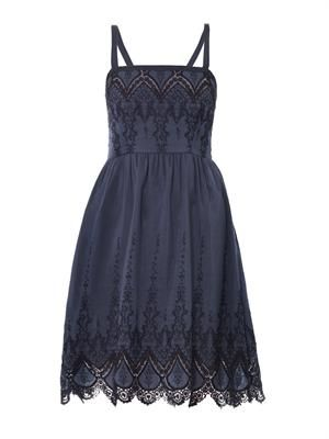 Ibiza embroidered lace dress