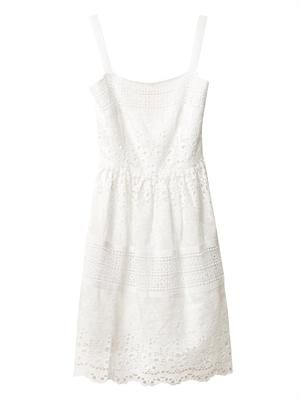 White Garden Shoestring dress