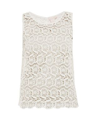 Portobello lace sleeveless top