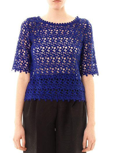 Collette by Collette Dinnigan Daisy chain lace top
