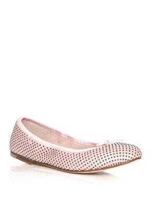 Studded 80th birthday ballet flats