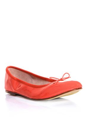 Patent leather flats