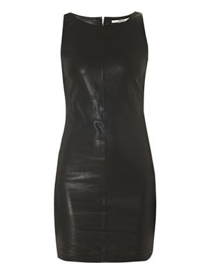 Lena leather shift dress